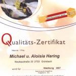 Qualitätszertifikat 2007