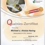 Zertifikat 2013