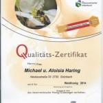 Zertifikat 2014